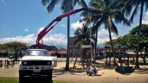 Instalação de Luminárias Orla Praia do Cruzeiro